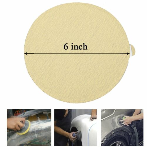 100Pc ABN 80 Grit Sandpaper Roll 6 IN Round Sanding Discs with Adhesive Back