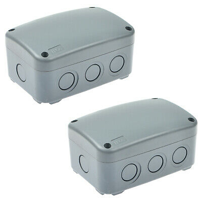 2 Pack Waterproof Junction Box Weatherproof Plastic Electric Enclosure Case Ip66