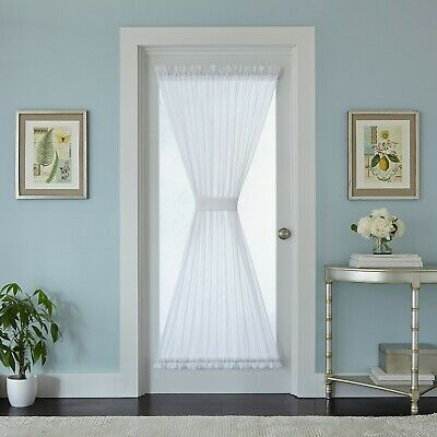 Better Homes & Gardens Crushed Voile Door Curtain Panel, 51x72, White (Crushed Voile Curtain Panel)