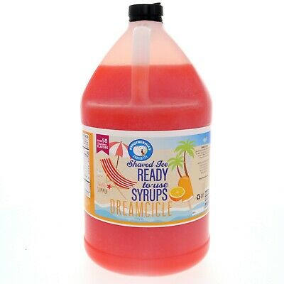 Hawaiian Shaved Ice Or Snow Cone Syrup Ready To Use Dreamcicle 128 Fl. Oz