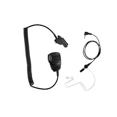 Listen Only Earpiece With Speaker Mic For Motorola Ht1000 Mt1500 Mt2000 Mt6000