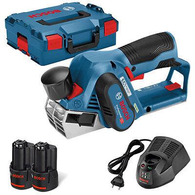 Bosch Akku-Hobel GHO 12V-20 Professional 2x Akku 3 Ah + Ladegerät - 06015A7001
