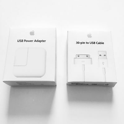 OEM 12W USB Power Adapter Wall Charger for Apple iPhone iPad with 30 Pin Cable
