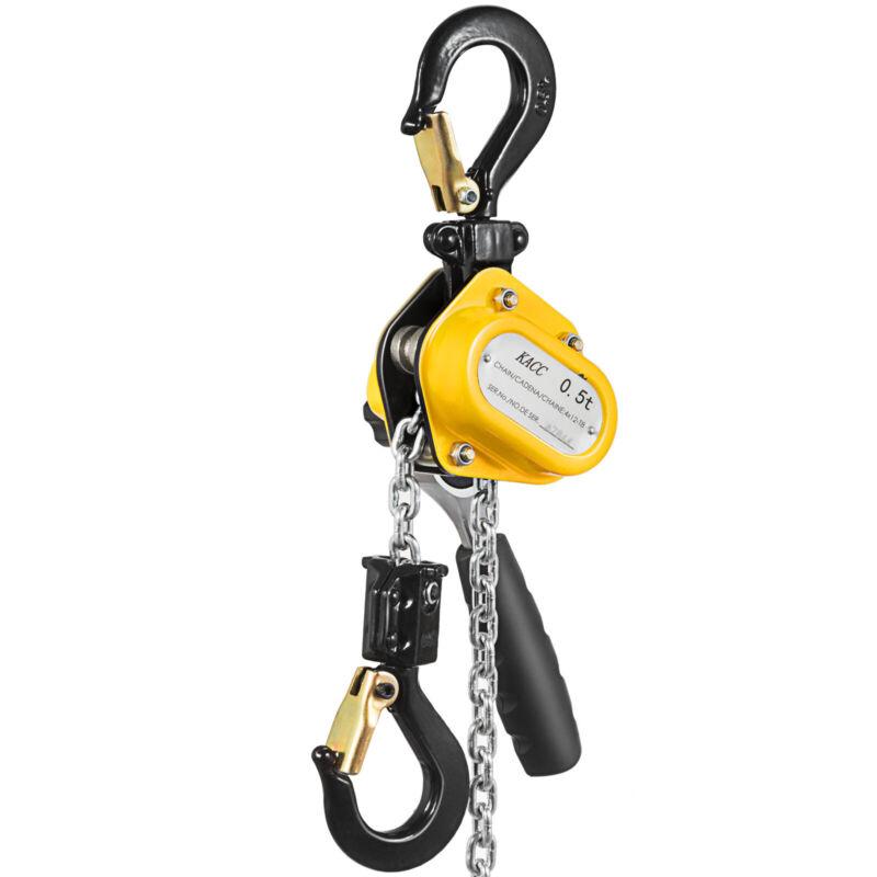 Manual Lever Chain Hoist 1100Lbs 1/2 Ton Capacity- 20ft 6M Lift