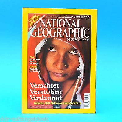 National Geographic Juni 2003 Boundary Waters Skythen Transoceanica Killerraupen