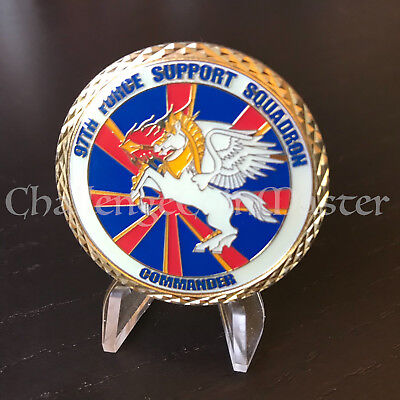 C32 97th Force Support Squadron Commander Challenge Coin