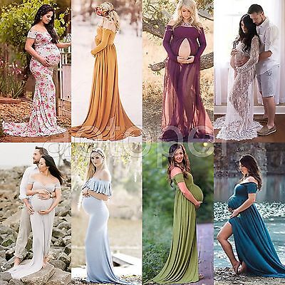 Sexy Gown Maternity Maxi Dress Wedding Party Dresses Pregnant Photography Props