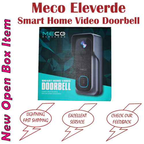 Meco Eleverde Smart Home Video Doorbell Camera 1080p Full HD Weatherproof