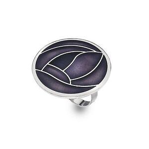 Mackintosh-Glasgow-Rosa-Smalto-sciarpa-anello-regalo-in-scatola-Viola