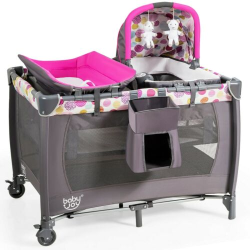 Newborn Crib Travel Baby Bassinet Nursery Furniture Cradle Changing Foldable New
