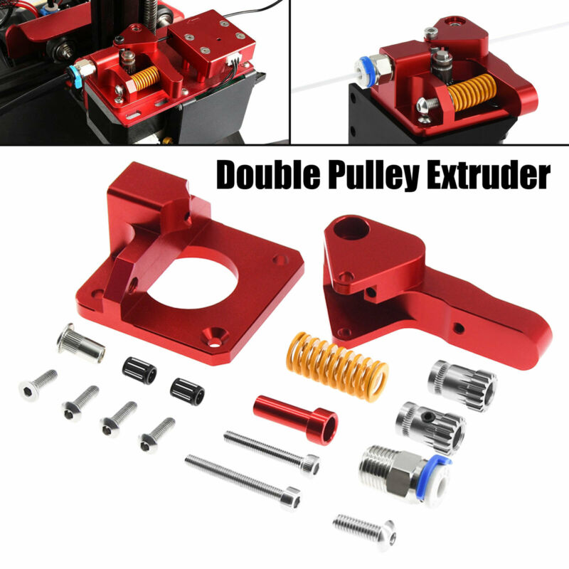 Aluminum Dual Gear Pulley Drive Extruder Kit for 3D Printer CR-10S Pro Ender-3