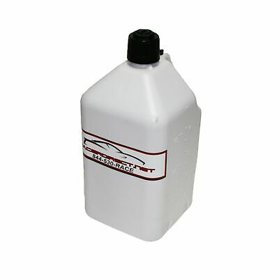 Home Generator Fuel Storage 5 Gallon Utility Fuel Dump Jug With Fill Hose White