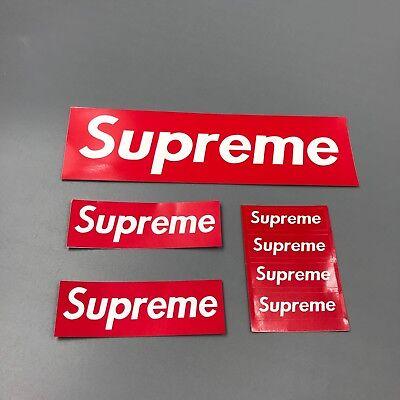 Supreme box logo Red sticker 7 pcs pack combo (4 small+2 medium+1 large)