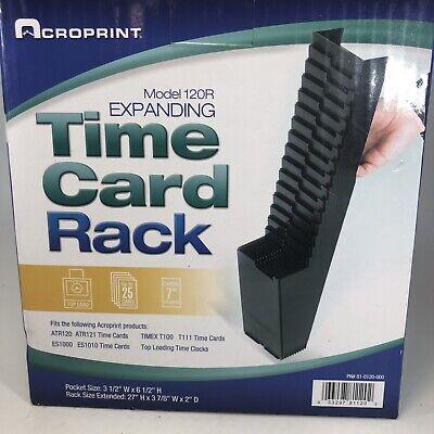 Acroprint Model 120r 25-pocket Time Card Rack Black