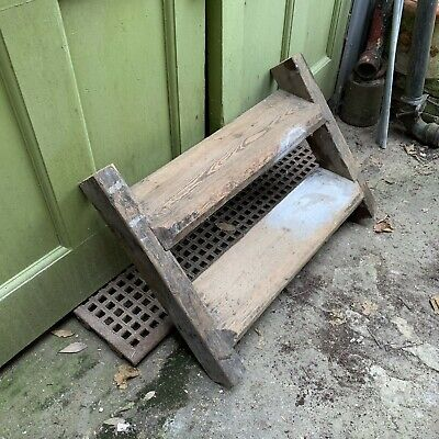Pair of antique Victorian wooden stairs/steps