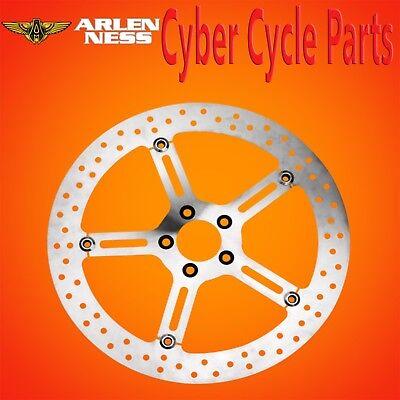 """Arlen Ness Left Side Front Rotor Wave 15/"""" Big Brake Kit Disc 06-2017 Harley Dyna"""