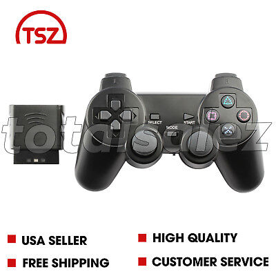 Playstation Game Pad Controller - Black Wireless Shock Game Controller Joypad Pad for Sony PS2 Playstation 2