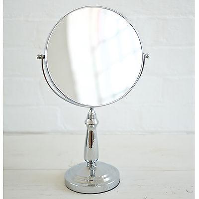 10X Magnification Glass Vanity Make Up Shaving Cosmetic Bathroom Chrome Mirror