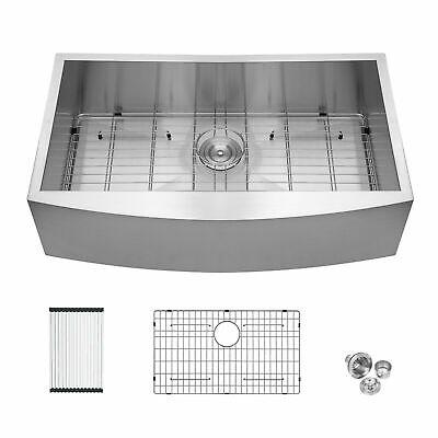 33 Inch Kitchen Farmhouse Sink Apron Front Stainless Steel Kitchen Sink 18 Gauge