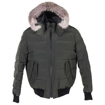 Moose Knuckles Glace Bay Bomber Canadian Army w/ Frost Fox Men M Coat/Jacket