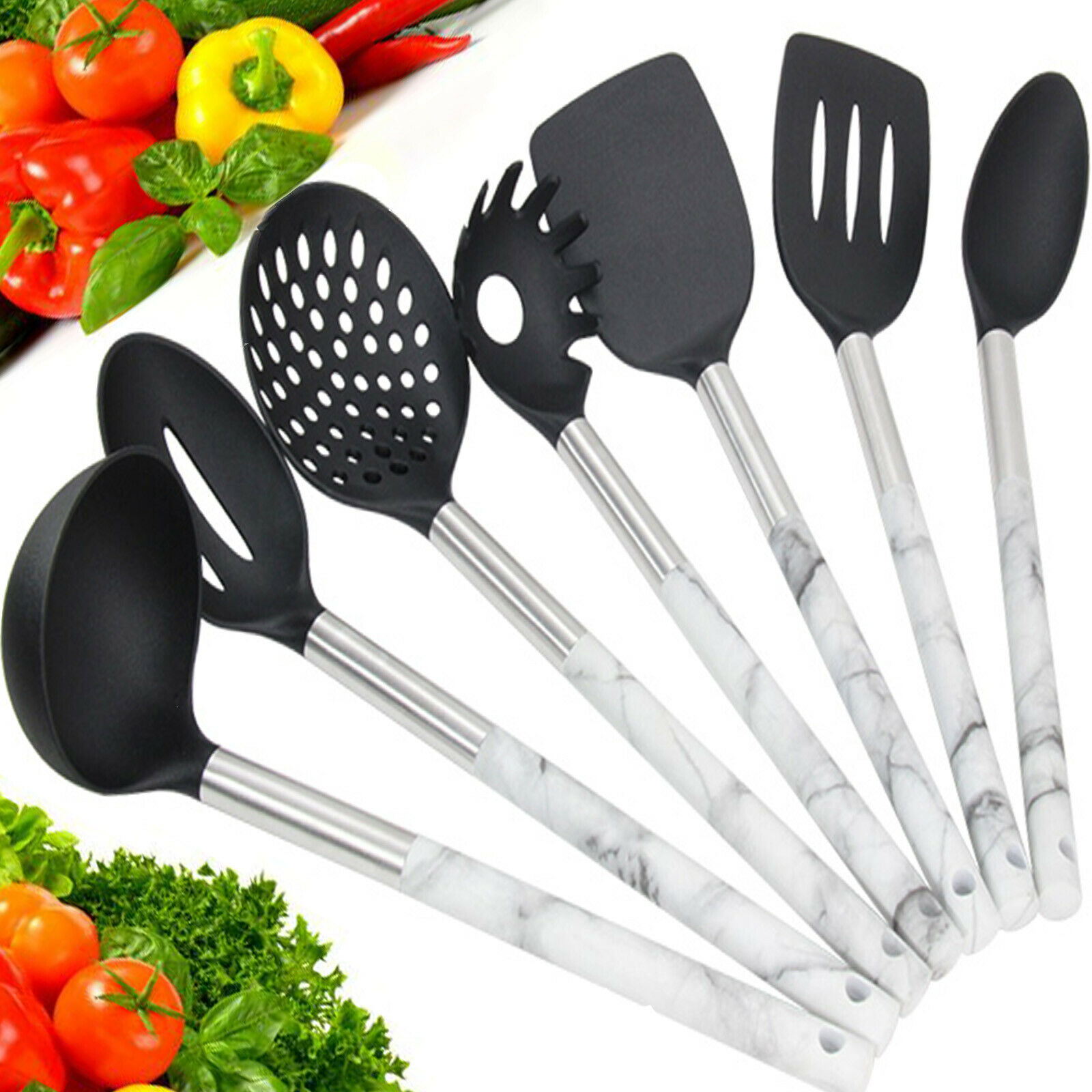 KITCHEN UTENSILS 7 SET, COOKING SET 🔥 HEAT-RESISTANT. DIS