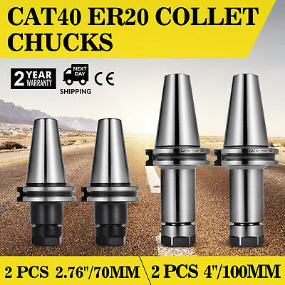Cat40-er20 Collet Chucks Short Long 0.0001 Runout--total 4 Chucks-tool Holder