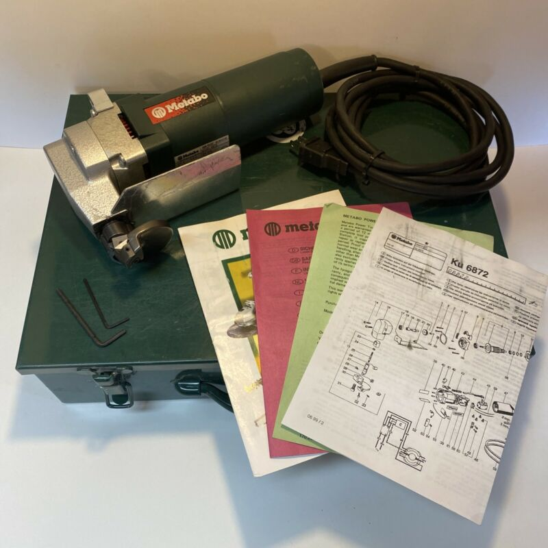 Metabo KU 6872 Curve Shear 16 Gauge Nibblers in Case Nice Condition