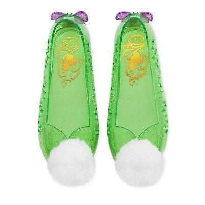 New DISNEY STORE Tinker Bell costume Shoes 7/8,9/10,11/12,13/1,2/3 - Tinker Girls