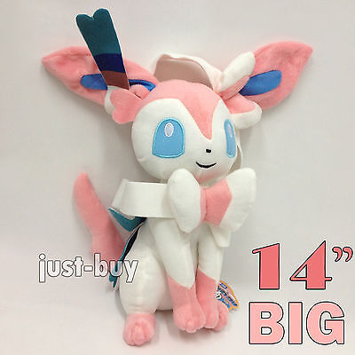 (Pokemon Plush Sylveon Fairy Eevee Soft Toy Stuffed Animal Doll Teddy 14
