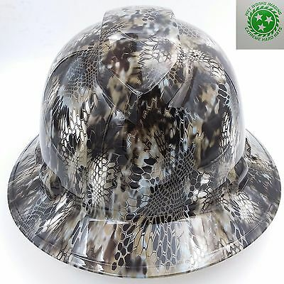 Hard Hat Full Brim Custom Hydro Dipped Osha Approved Kryptek Neptune Camo New