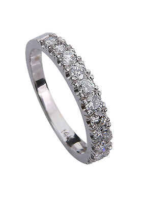 Diamond Bridal Ring Guard - Diamond Wedding Anniversary Ring Band 14K 18K & Ring all sizes 0.75 Carats Guard
