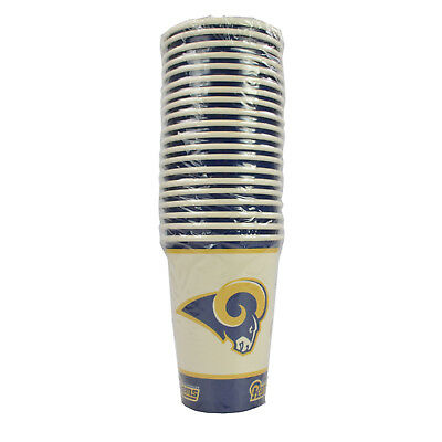 New NFL Los Angeles Rams 20 Disposable 16oz Paper Cups Party-Ware Supplies](Party Supplies Los Angeles)
