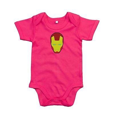 Iron Man Face Bodysuit Romper embroidered Outfit Clothes Newborn Also - Iron Man Outfit