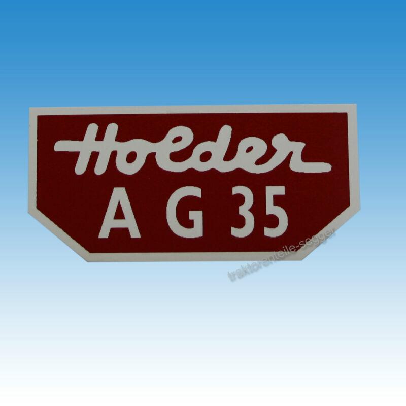 Holder Typenaufkleber für Holder AG 35 klein Traktor Schlepper 01565 Foto 1