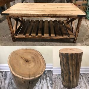 3 Piece Reclaimed Barn Wood/Timber Table Set