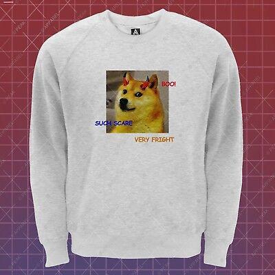 Such Boo Sweatshirt Dogue Meme Halloween Fancy Dress Jumper Scary Sweat - Scary Halloween Memes