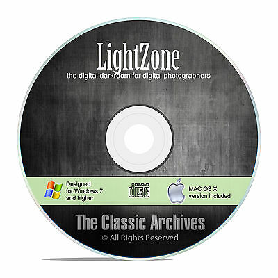 Lightzone  Pro Lightroom Darkroom Digital Camera  Raw Image Photo Editor Cd F22