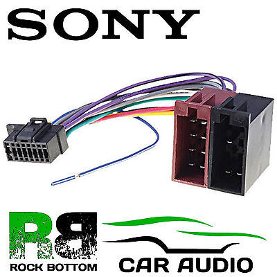 SONY DSX-A200UI Car Radio Stereo 16 Pin Wiring Harness Loom ISO Lead Adaptor