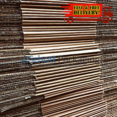 """100x SMALL MAILING PACKING CARDBOARD BOXES 9x9x9"""" CUBE SINGLE WALL"""