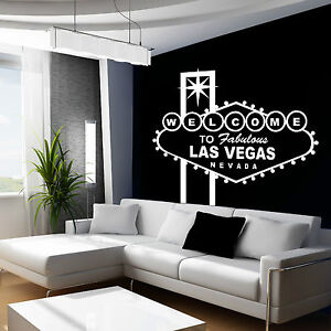 Las Vegas Wall Art Room Sticker Decal Vinyl Transfer Sin