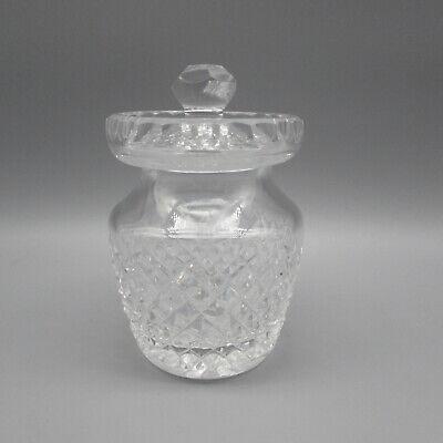 Waterford Crystal ALANA Jam / Jelly Jar w/ Lid Crystal Jelly Jar