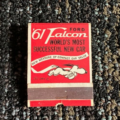 1961 FORD FALCON MATCHBOOK featuring SNOOPY by CHARLES SCHULTZ