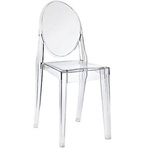 Ghost Chair Transparent Clear Acrylic Philippe Starck Style