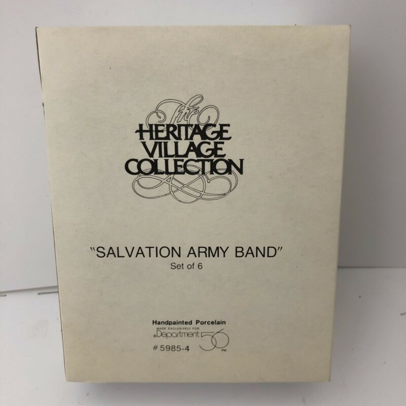 """Dept. 56 """"Salvation Army Band"""" #5985-4 Heritage Village Christmas in the City"""