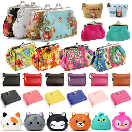 Womens Change Coin Purse Small Clutch Wallet Keys Card Mini