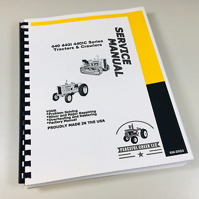Service Manual John Deere 440 440i 440c 440ic Industrial Tractor Crawler Series