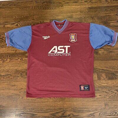 Aston Villa 1997/98 Home Soccer Jersey RARE XXL 46