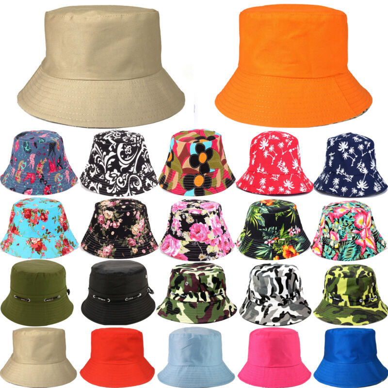 Women Men Printed Travel Holiday Hats Summer Fishing Fisherman Headwrap Headwear Clothing, Shoes & Accessories