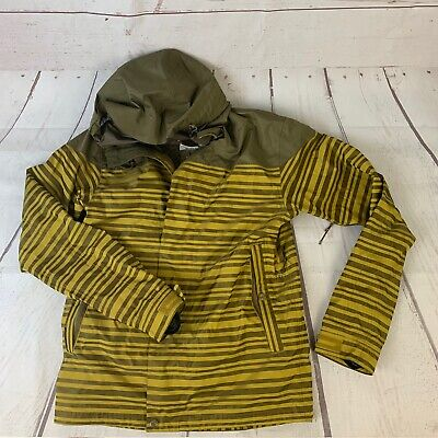Holden Weston Jacket Mens Ski Snowboard Waterproof Coat Yellow Stripe L $230 RSP