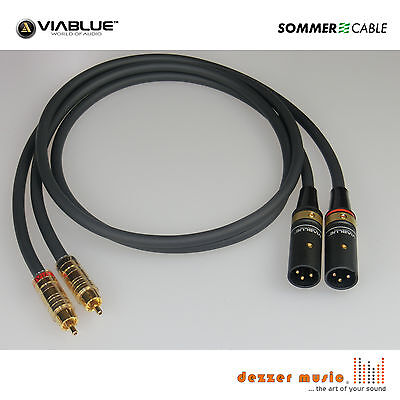 2x 0,3m Adapterkabel CARBOKAB VIABLUE- Sommer Cable XLR male Cinch..High End